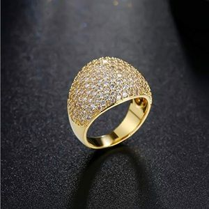 Jewelry - Diamond Accent Cluster Zirconia Wide Band